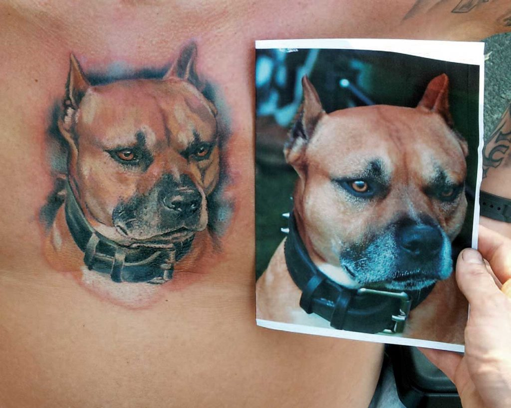 Hunde-Tattoo als Therapie